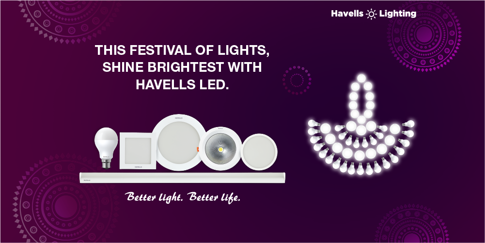 Make This Diwali The Brightest With Havells Lighting